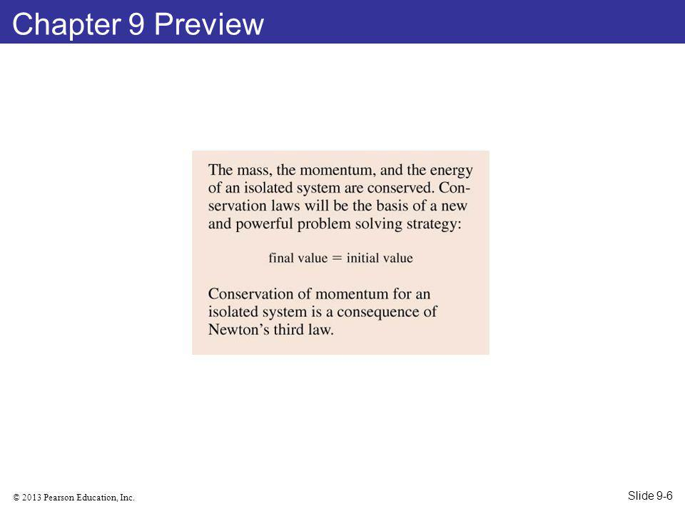 © 2013 Pearson Education, Inc. Chapter 9 Preview Slide 9-6