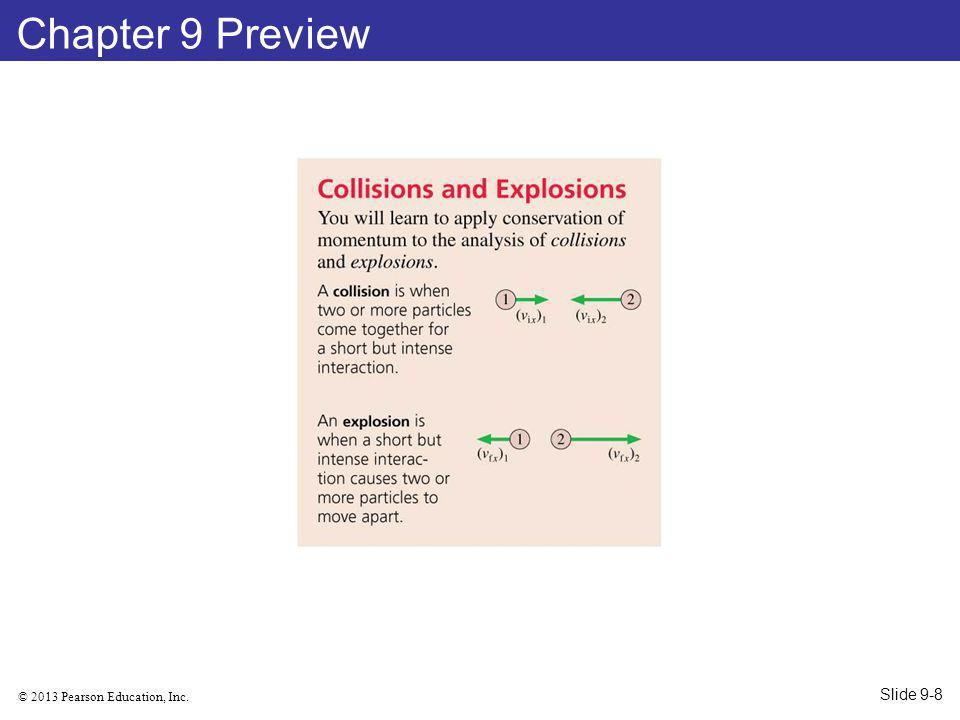 © 2013 Pearson Education, Inc. Chapter 9 Preview Slide 9-8