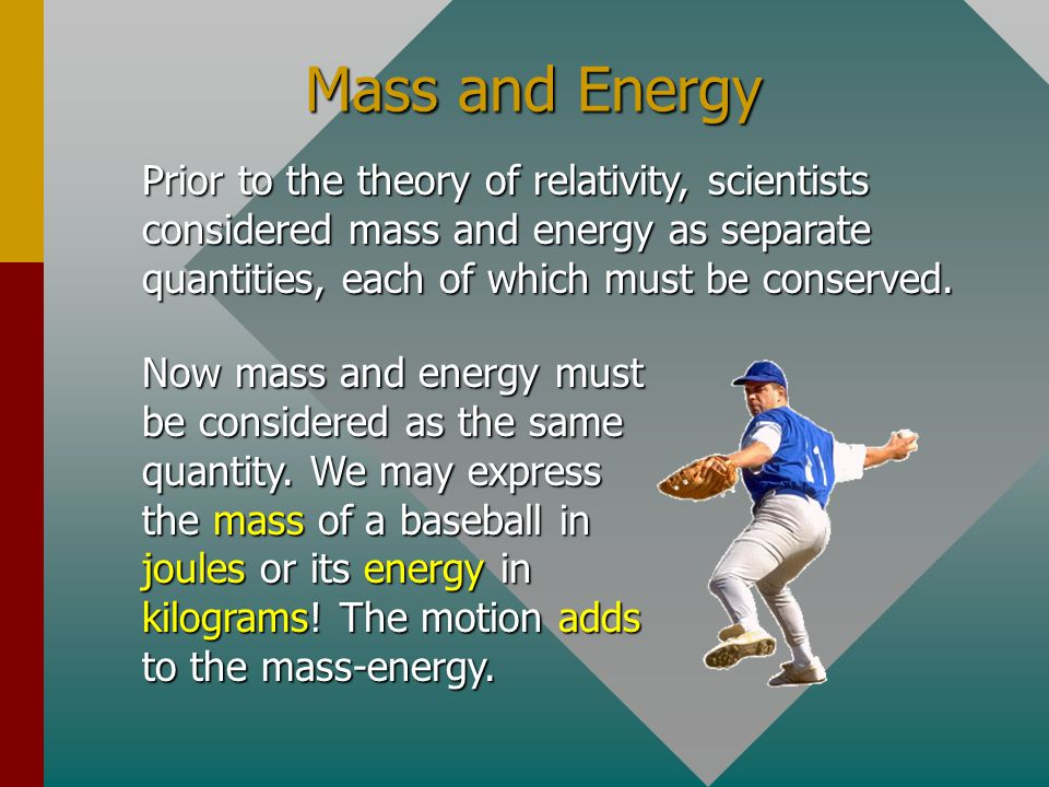 Example 3: The rest mass of an electron is 9.1 x 10 -31 kg.