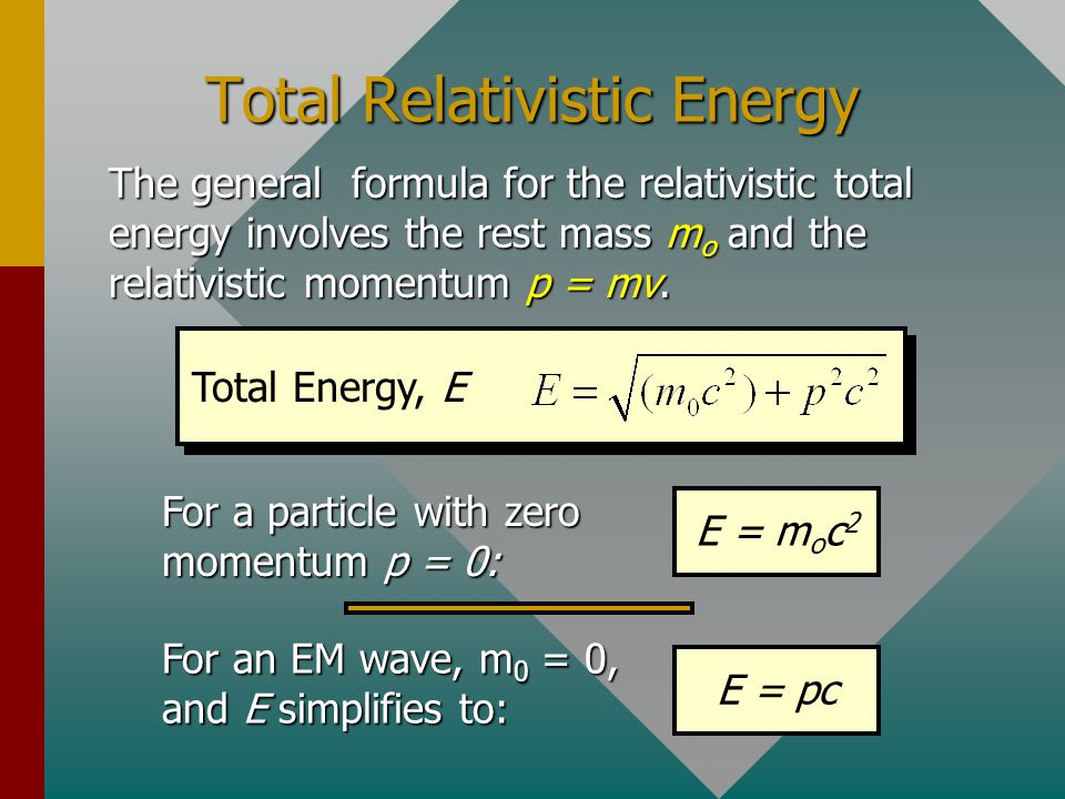 Mass and Energy Prior to the theory of relativity, scientists considered mass and energy as separate quantities, each of which must be conserved. Now