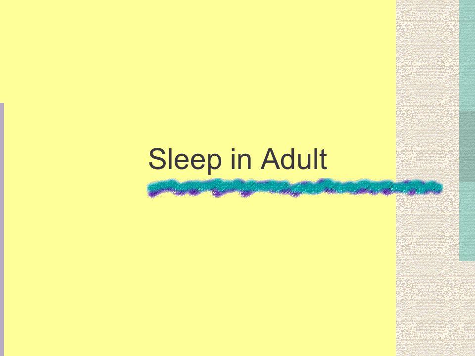 Sleep in Adult