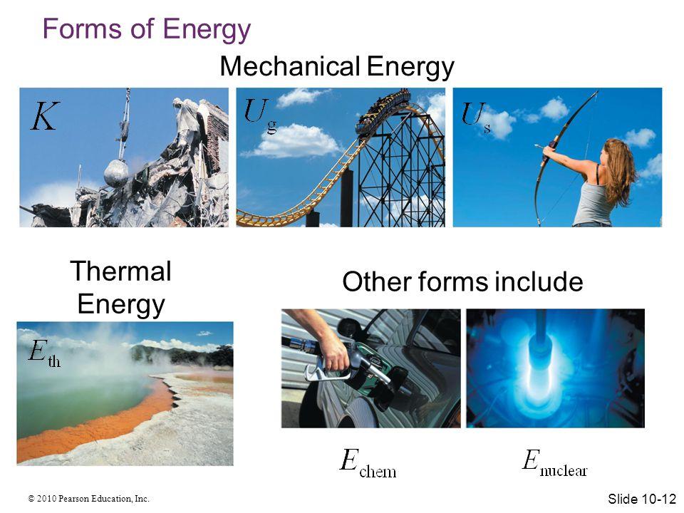 © 2010 Pearson Education, Inc. The Basic Energy Model Slide 10-13
