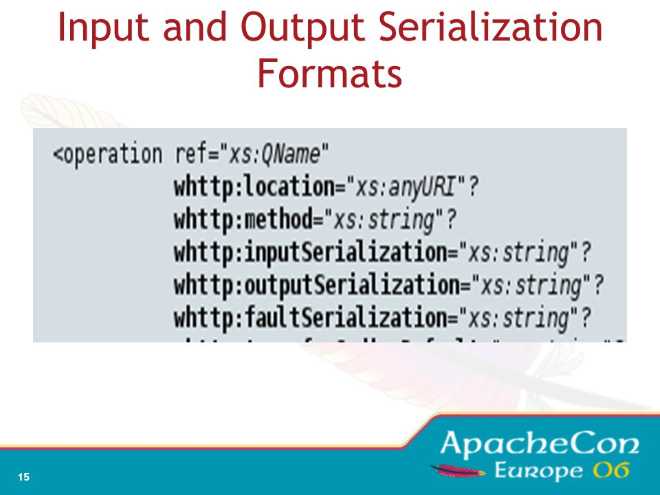 15 Input and Output Serialization Formats