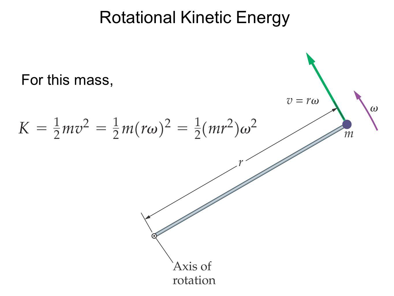 Rotational Kinetic Energy For this mass,