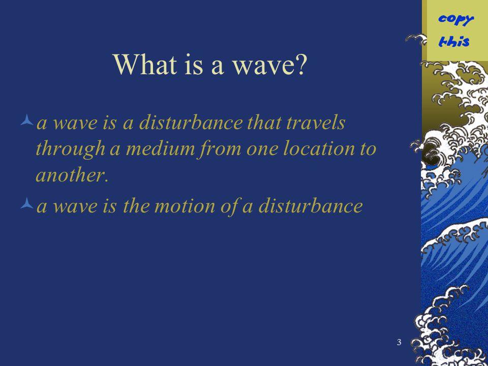 4 Slinky Wave Lets use a slinky wave as an example.