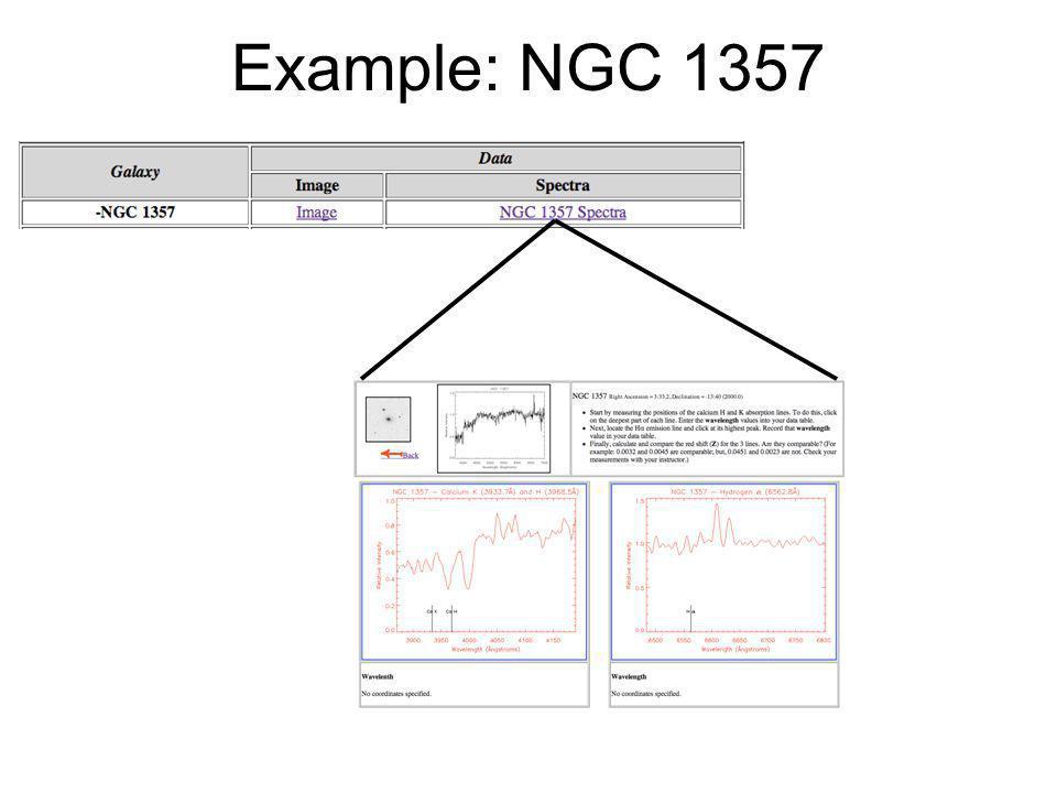 Example: NGC 1357