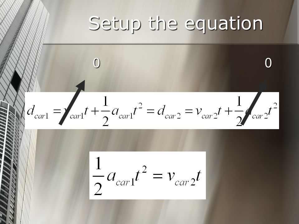Setup the equation 00