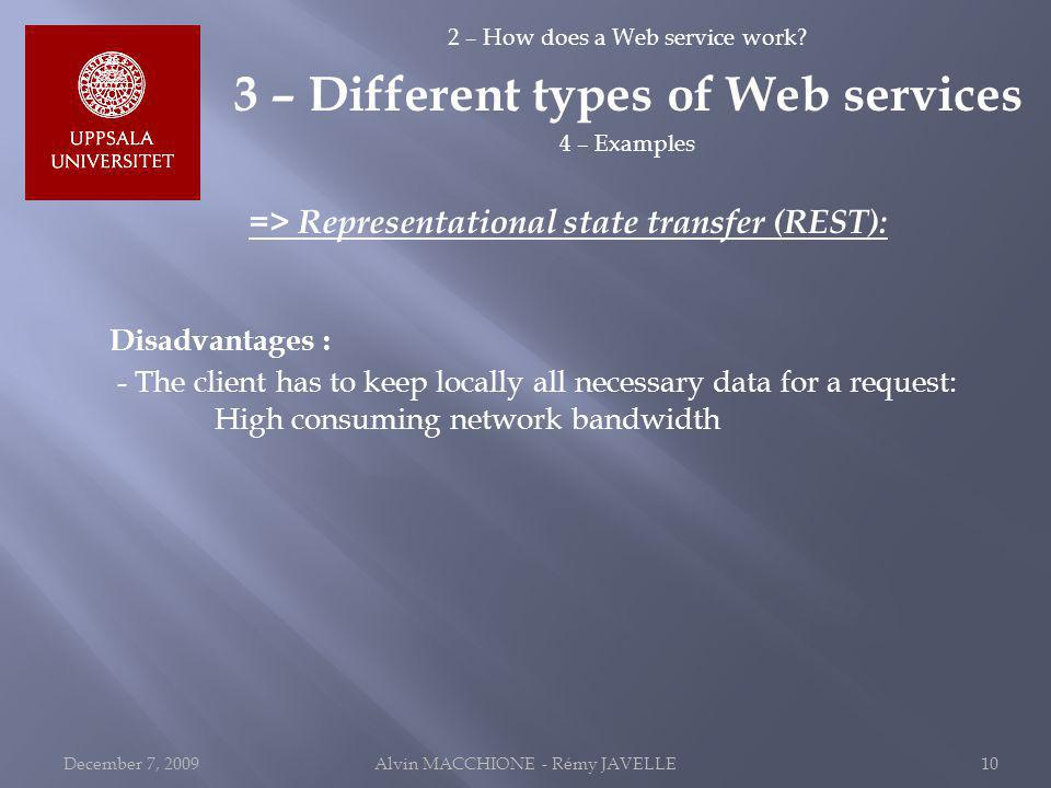 2 – How does a Web service work.