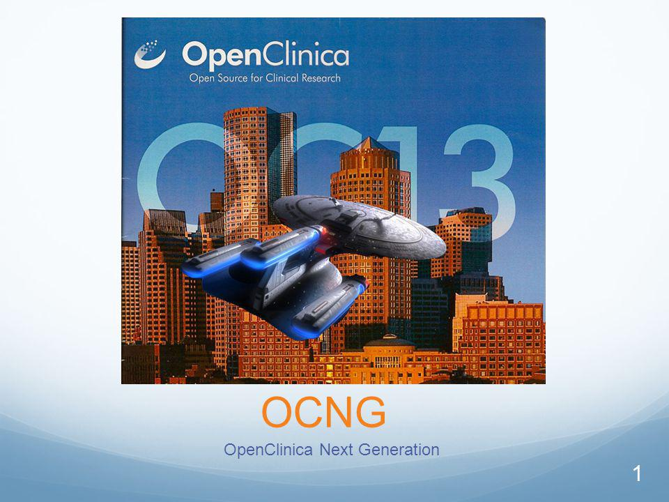 OCNG OpenClinica Next Generation 1