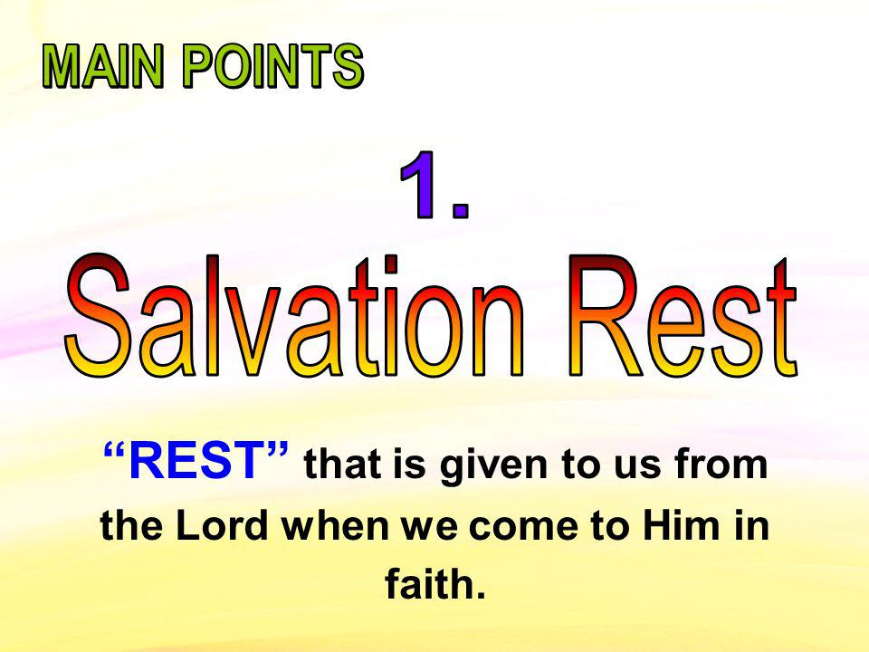 Come to me, all you who are weary and burdened, and I will give you rest. [TNIV] Matthew 11:28….