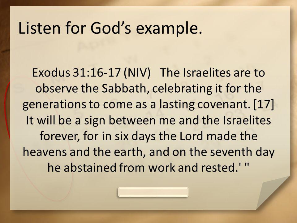 Listen for Gods example.