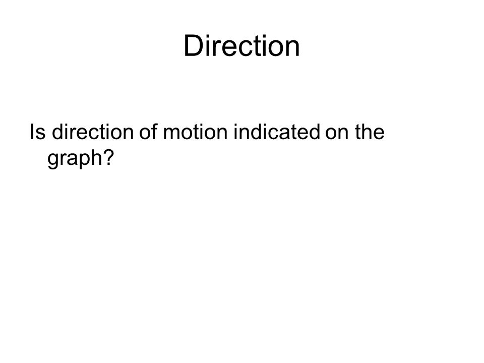 Direction Is direction of motion indicated on the graph?