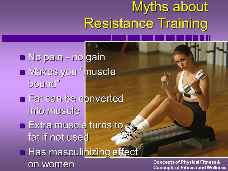 Concepts of Physical Fitness & Concepts of Fitness and Wellness The FIT Formula Applied to Resistance Training How often.