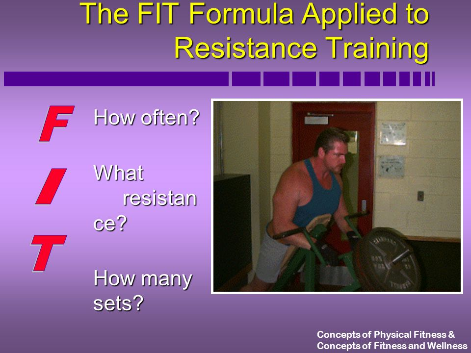 Concepts of Physical Fitness & Concepts of Fitness and Wellness Resistance Training Terminology n Reps n Sets n 1 RM