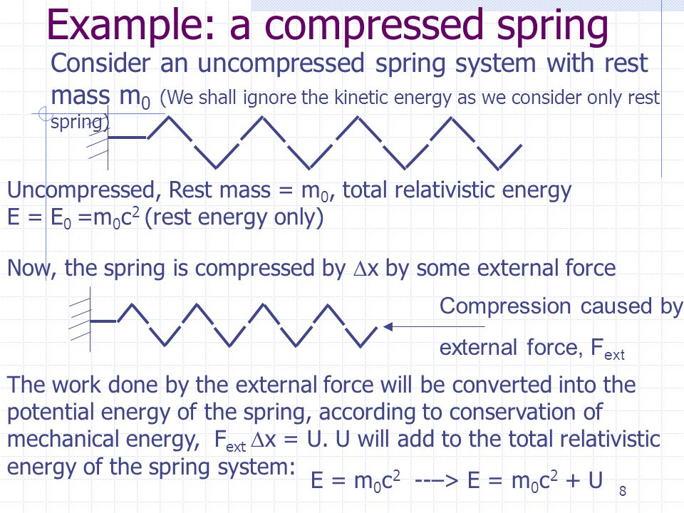 7 Mass-energy equivalence: potential energy In some special case, a system has no potential energy nor kinetic energy, e.g. two nucleons at rest and s