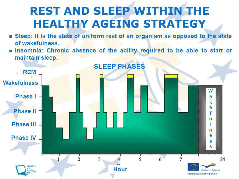 REST AND SLEEP WITHIN THE HEALTHY AGEING STRATEGY Sleep: it is the state of uniform rest of an organism as opposed to the state of wakefulness.