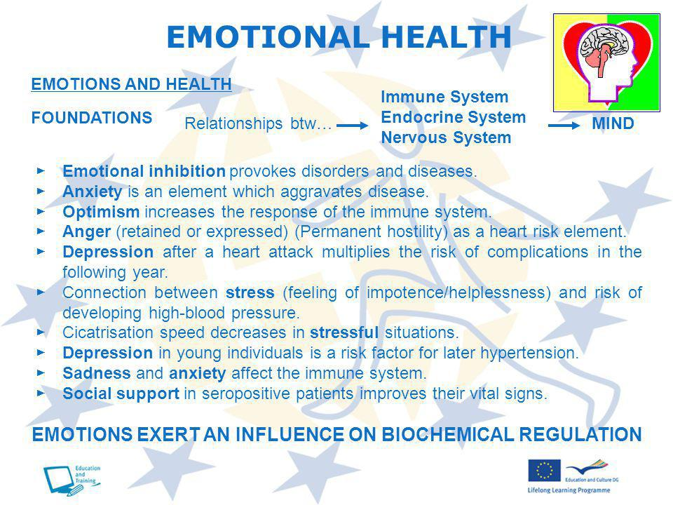 Emotional inhibition provokes disorders and diseases.