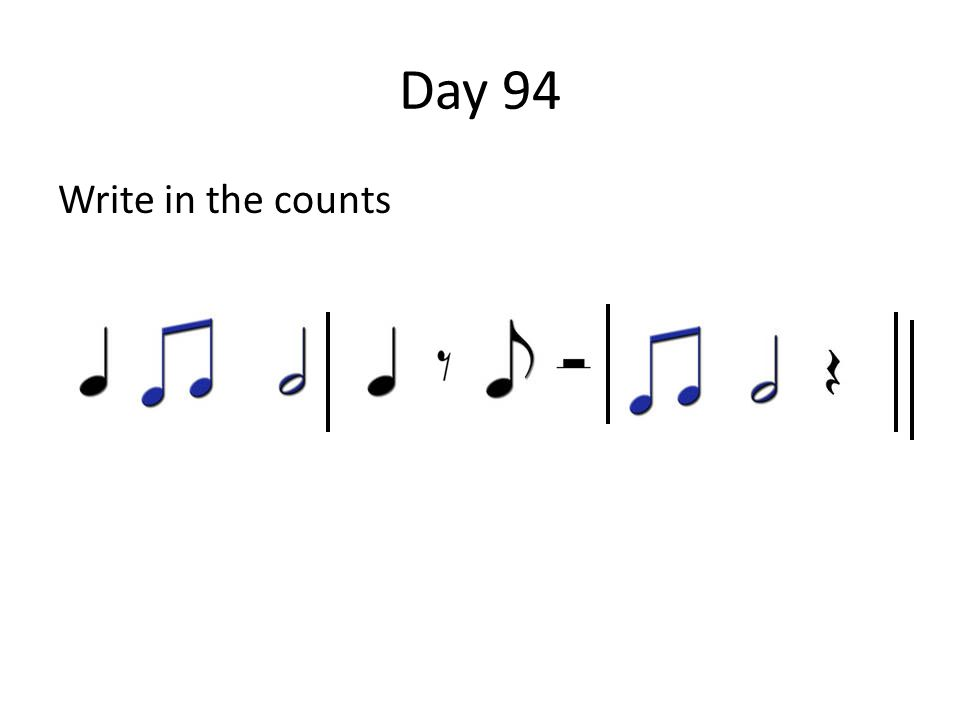 Day 94 Write in the counts