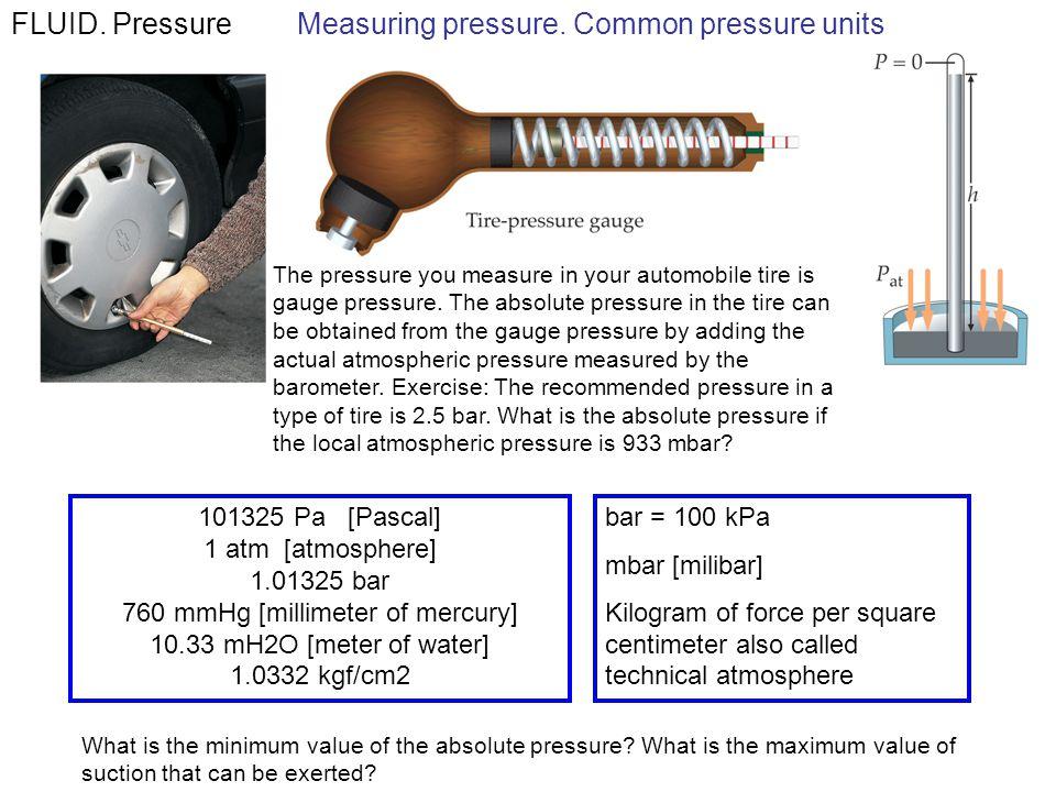 FLUID.PressureMeasuring pressure.