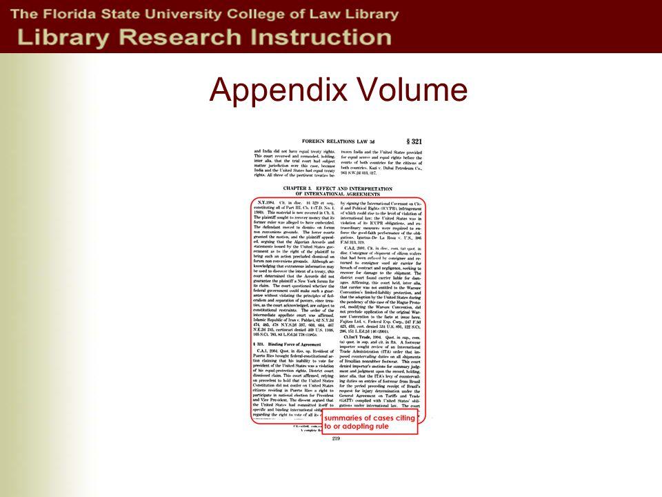 Appendix Volume