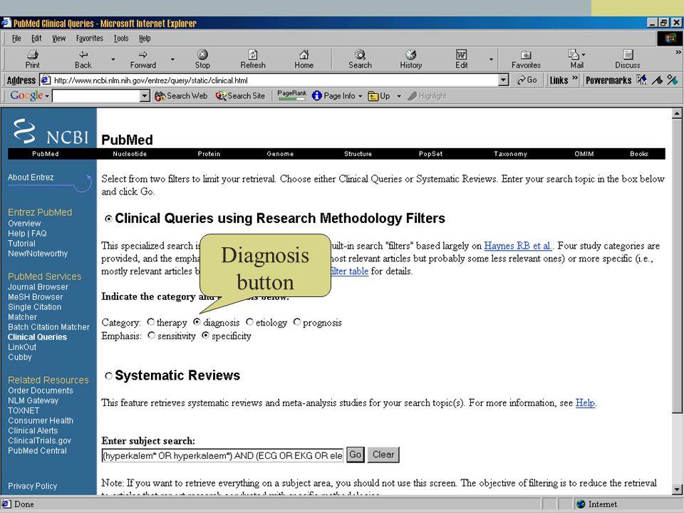 Diagnosis button
