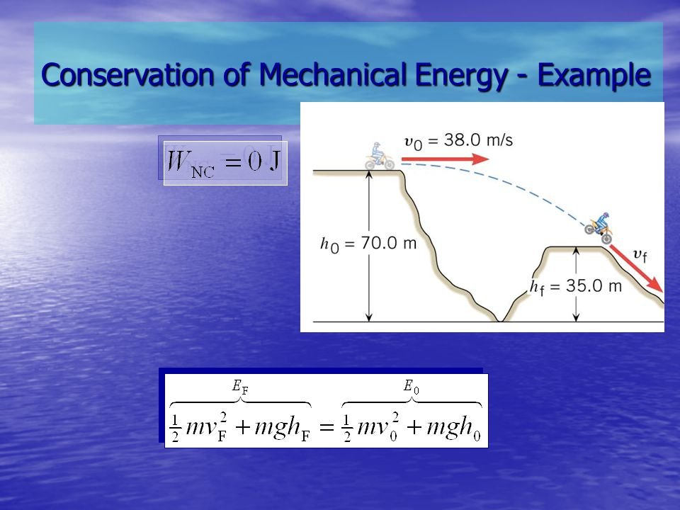 Conservation of Mechanical Energy - Example