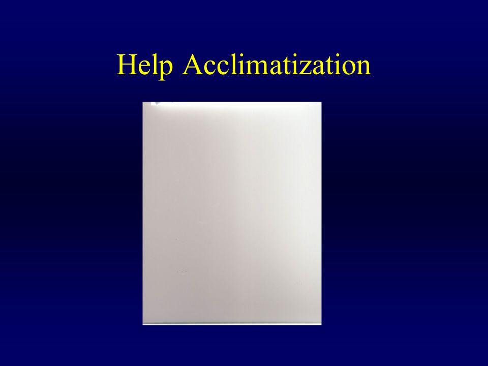 Help Acclimatization