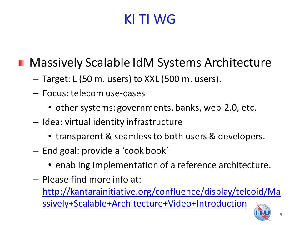 KI TI WG Massively Scalable IdM Systems Architecture – Target: L (50 m.
