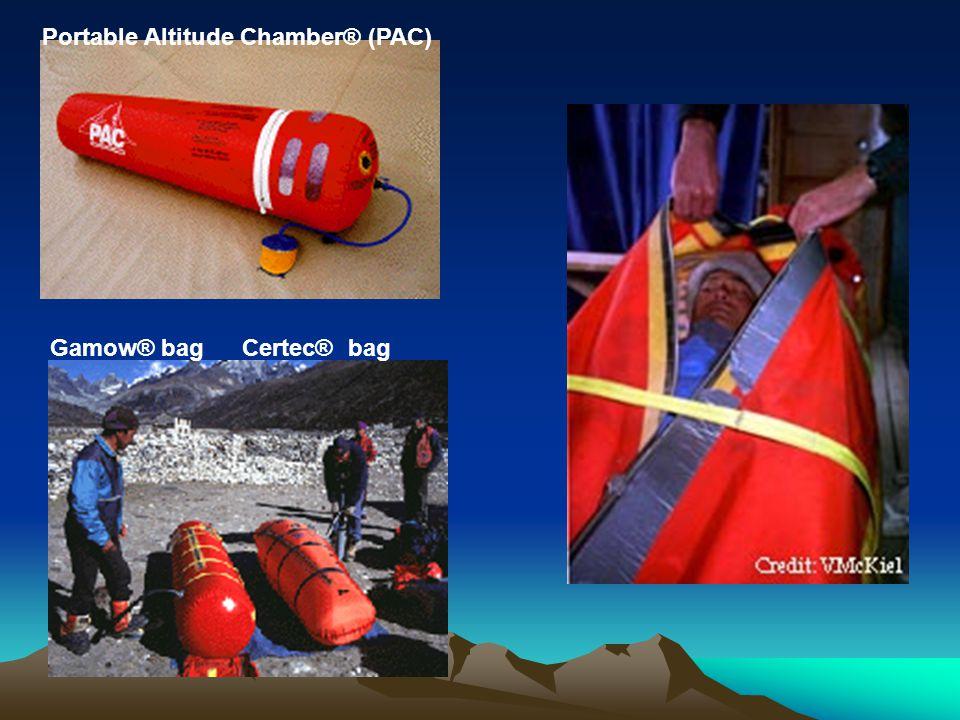 Portable Altitude Chamber® (PAC) Gamow® bag Certec® bag
