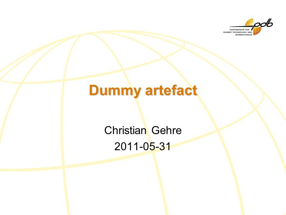 Christian Gehre, PDB Dummy artefacts Design of the dummy Upper torso jacket boltsInner plates