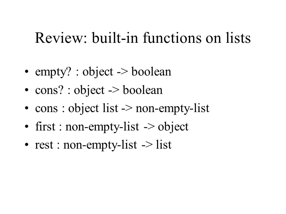Using the test ; remove-if : (num -> boolean) list-of-nums -> list-of-nums (define (remove-if test.