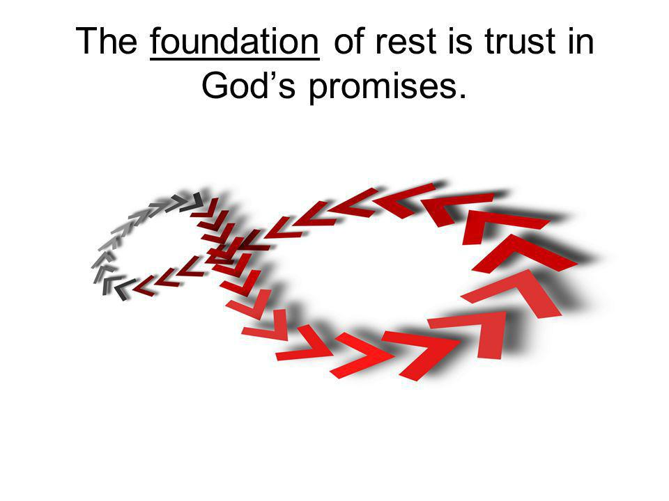 The foundation of rest is trust in Gods promises.
