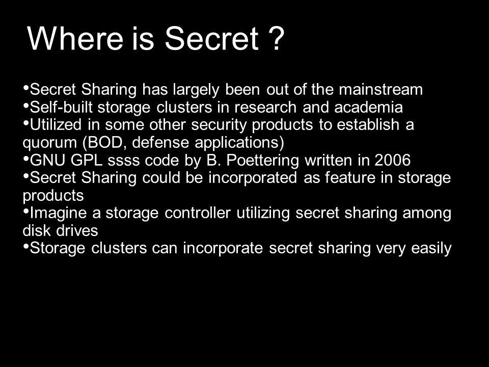Where is Secret .