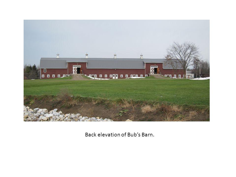 Back elevation of Bubs Barn.