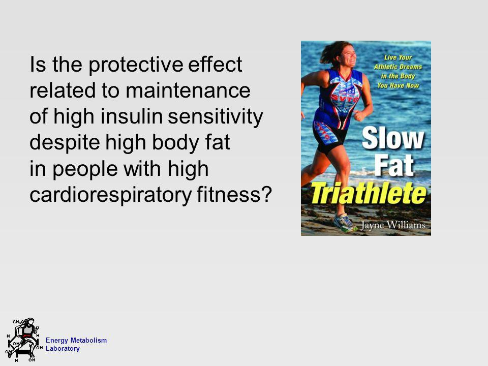 Energy Metabolism Laboratory H H OH CH 2 OH H OH H Is the protective effect related to maintenance of high insulin sensitivity despite high body fat in people with high cardiorespiratory fitness?