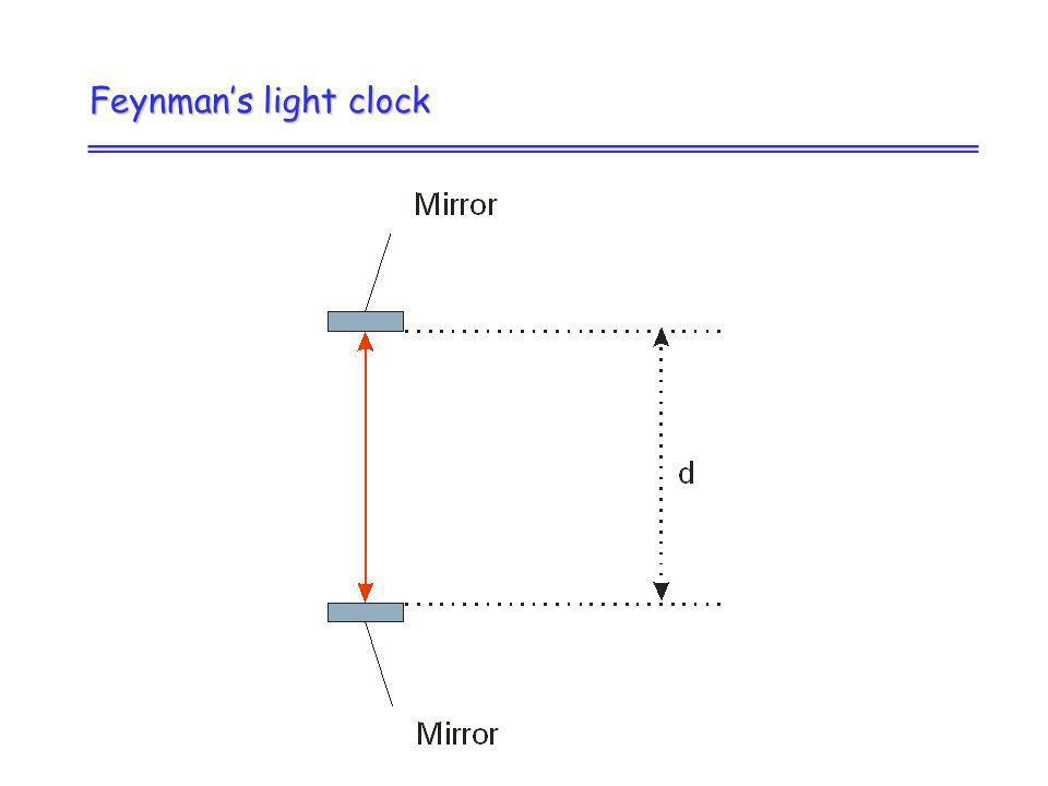 Feynmans light clock