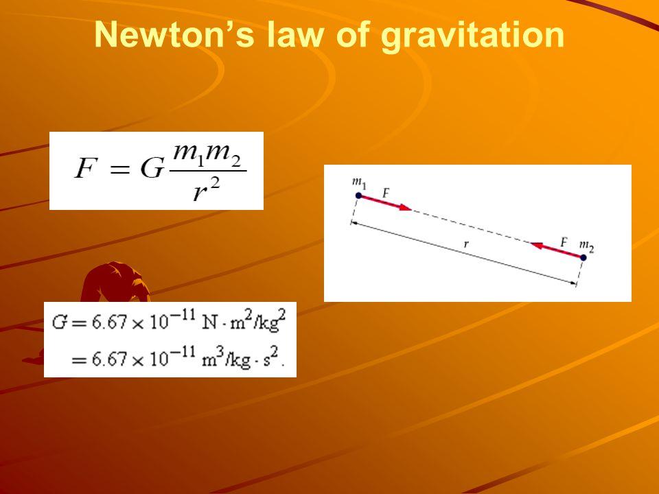Newtons law of gravitation