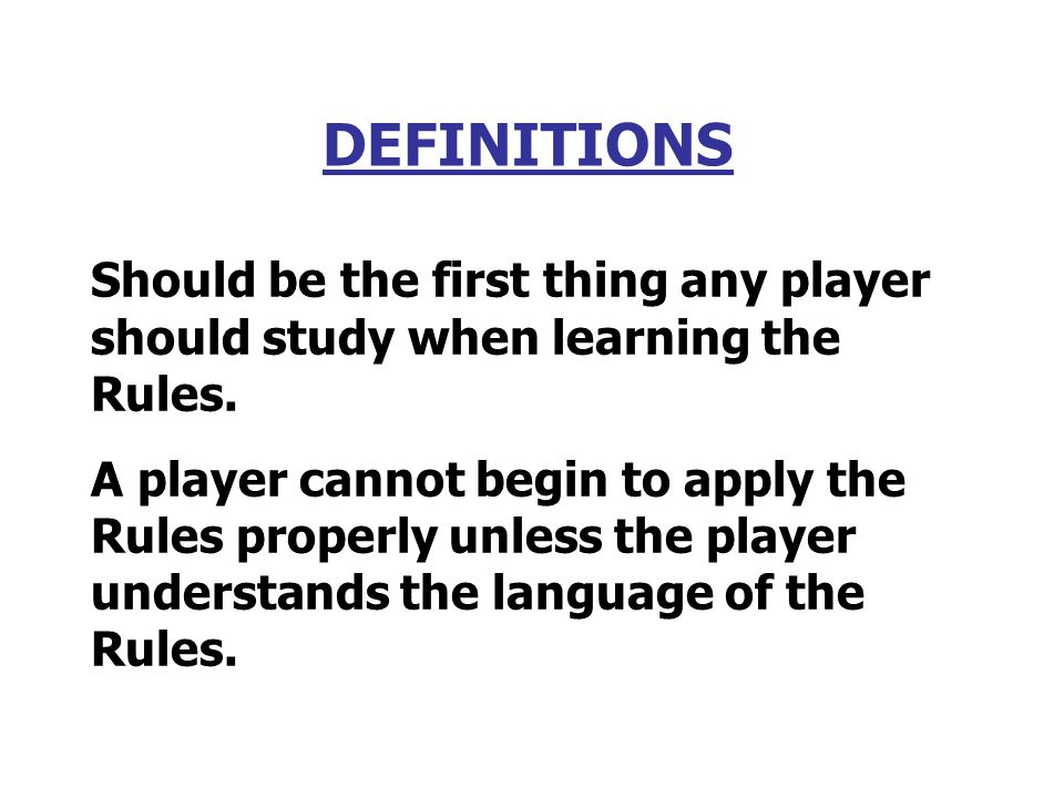 Need to Know Rules Clinic - Disclaimer This presentation is to simply provide a quick overview of the rules that seem to come up most frequently when playing golf.