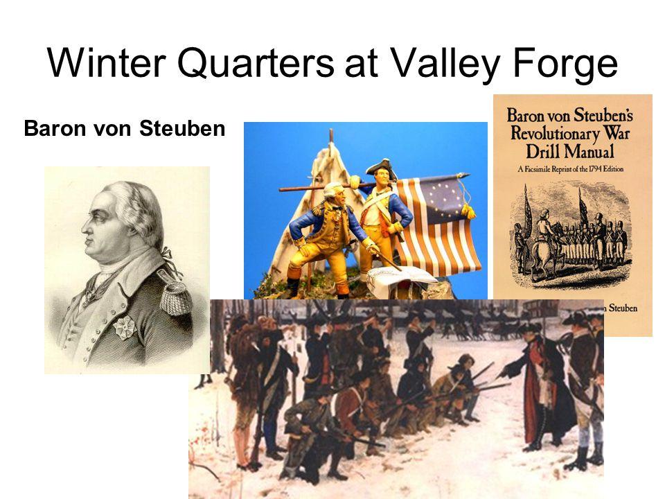 Winter Quarters at Valley Forge Baron von Steuben
