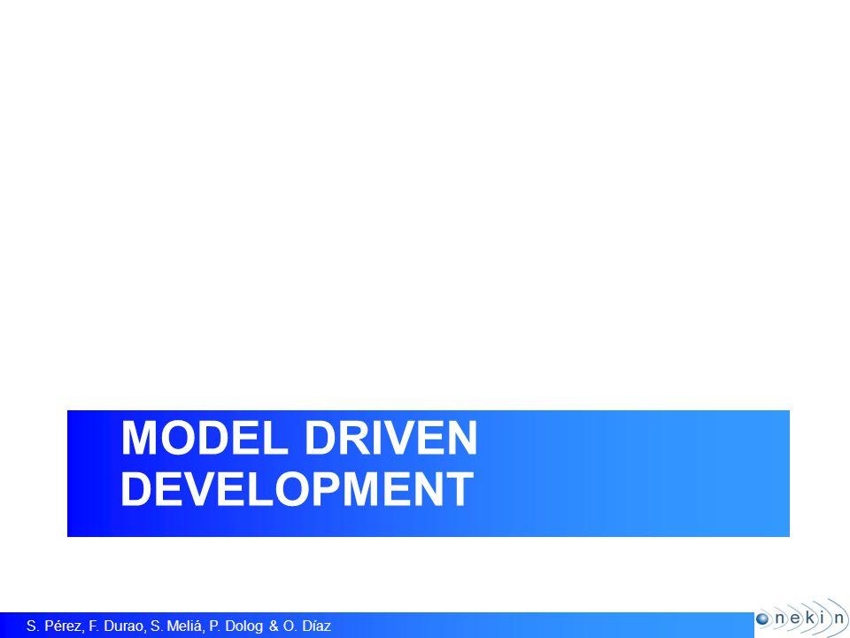 S. Pérez, F. Durao, S. Meliá, P. Dolog & O. Díaz Model Driven Development