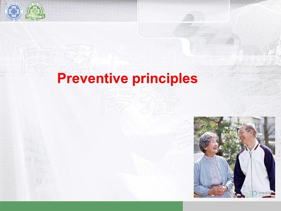 Preventive principles