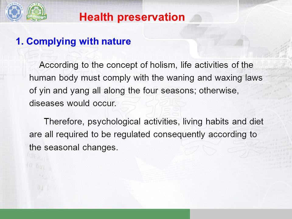 Health preservation 1.