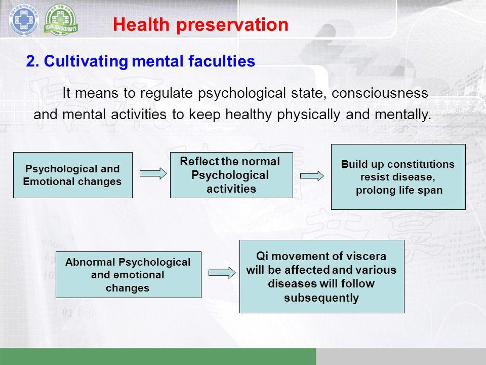 Health preservation 2.
