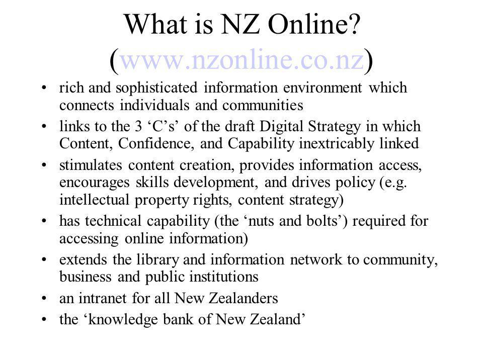 What is NZ Online.