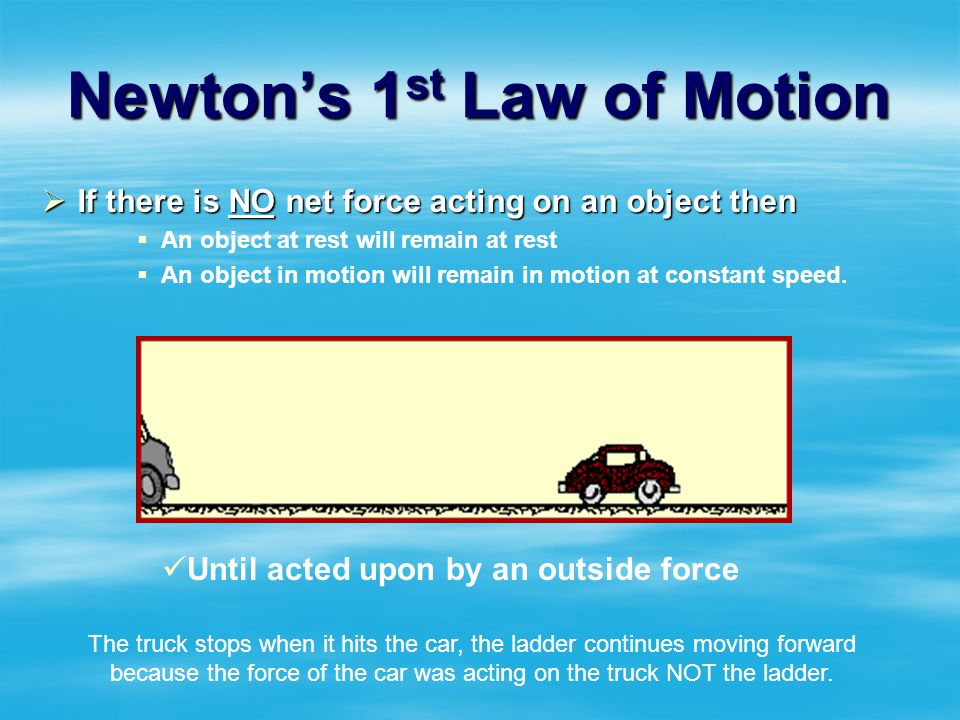 Newtons 1 st Law of Motion Lazy, resistant to change!!!
