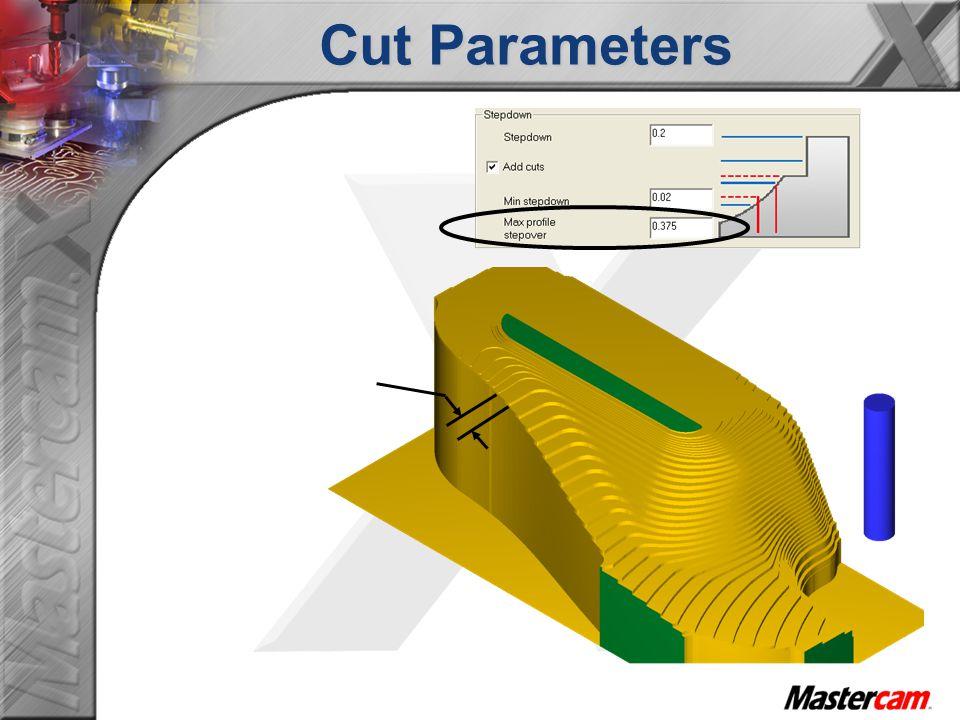 Cut Parameters Max profile stepover