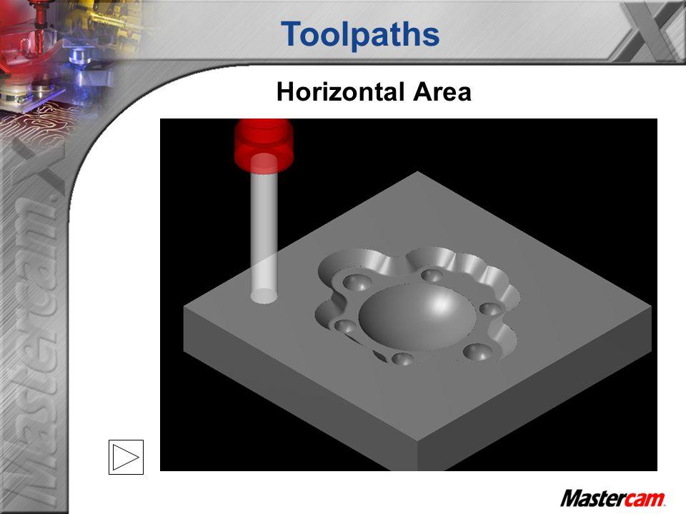 Toolpaths Horizontal Area