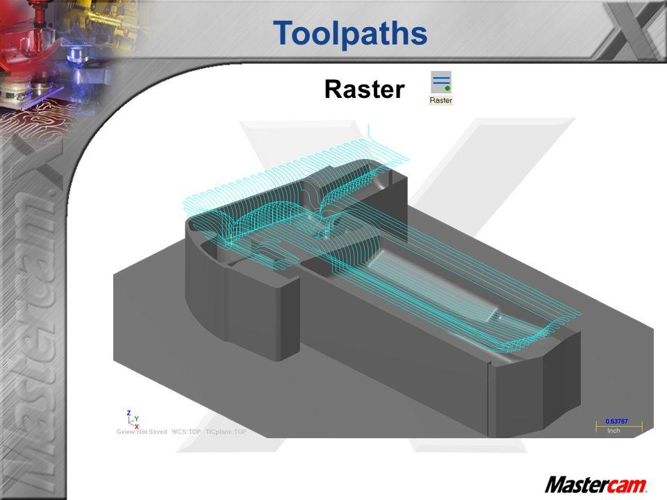 Toolpaths Raster