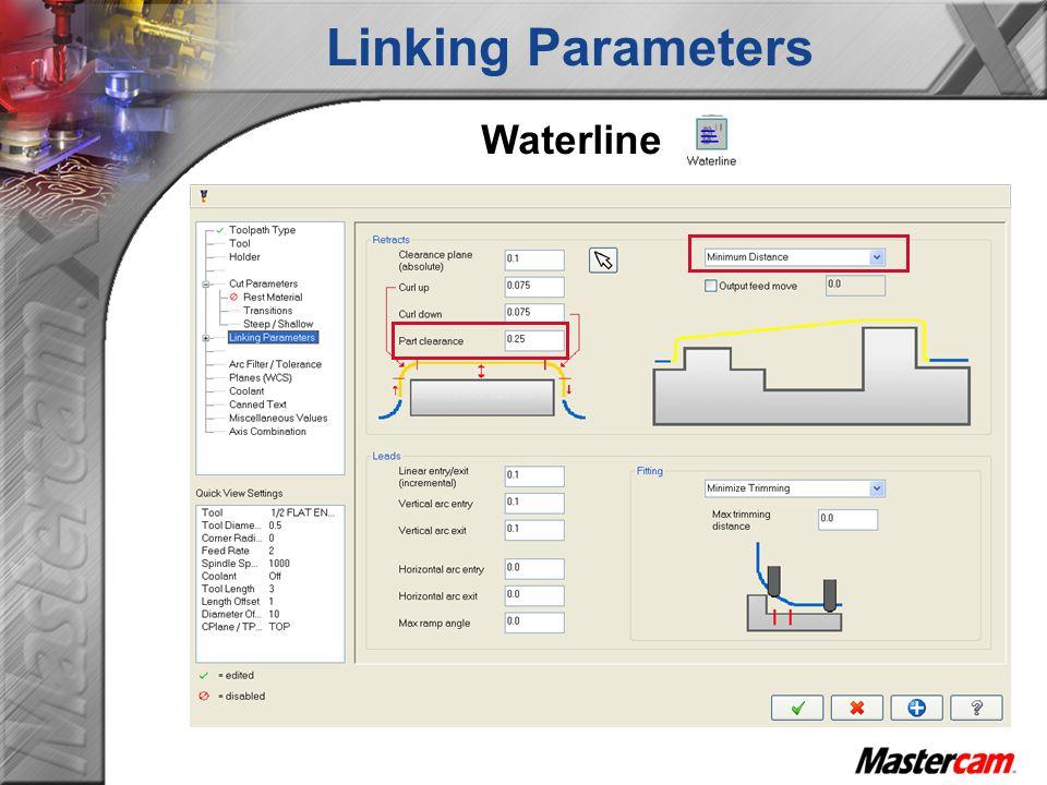 Waterline Linking Parameters