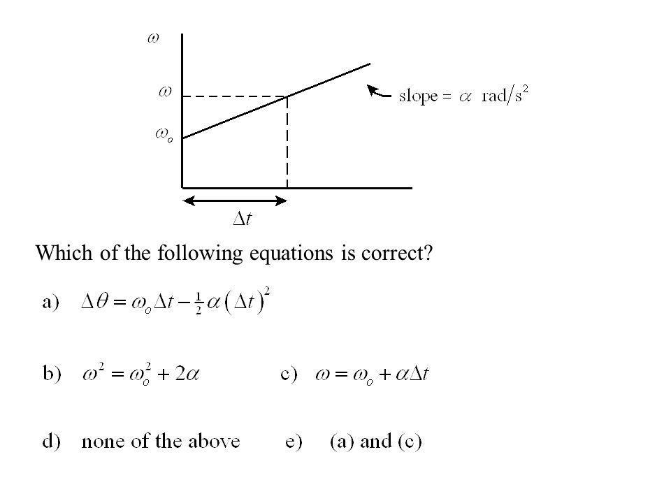 Which of the following equations is correct?